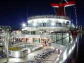 Carnival Conquest sun deck at night