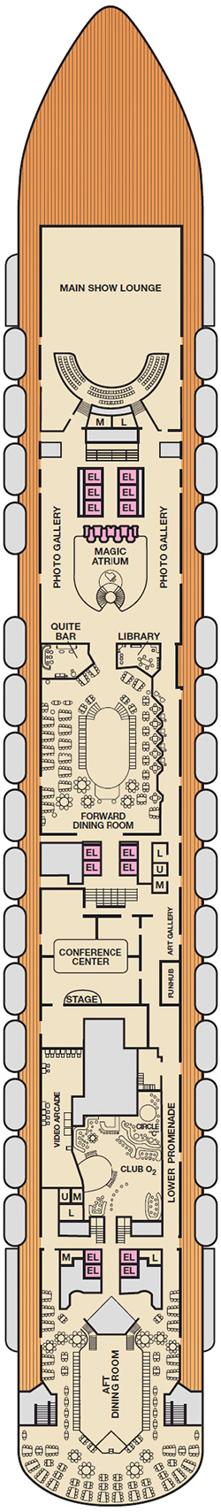 Mezzanine Decking Plans : Carnival breeze mezzanine deck plan monocruise