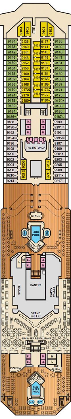 Carnival Lido Main Deck Plan Monocruise Com